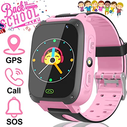 AMENON Kids Smart Watch GPS Tracker - Kid Phone Smartwatch for Boys Girls 3-12 Years Old with Two-Way Call SOS Anti-Lost Games Camera, Child Cellphone ...