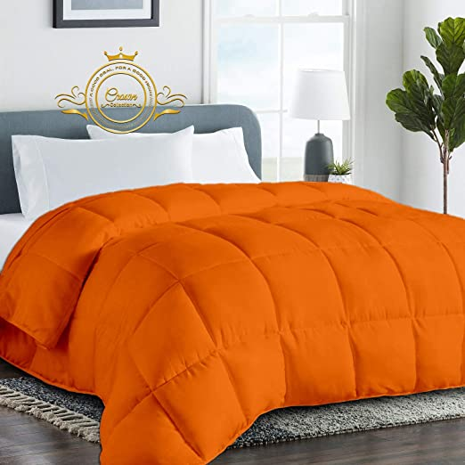 Amazon.com: Orange Luxurious Goose Down Comforter  Queen Size 88 x