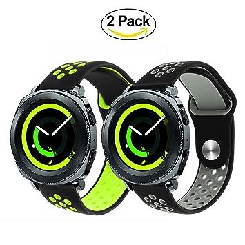 Pour Samsung Gear Sport SM-R600 Bracelet de montre, TRUMiRR 20mm Silicone Rubber Watch Bracelet à ...