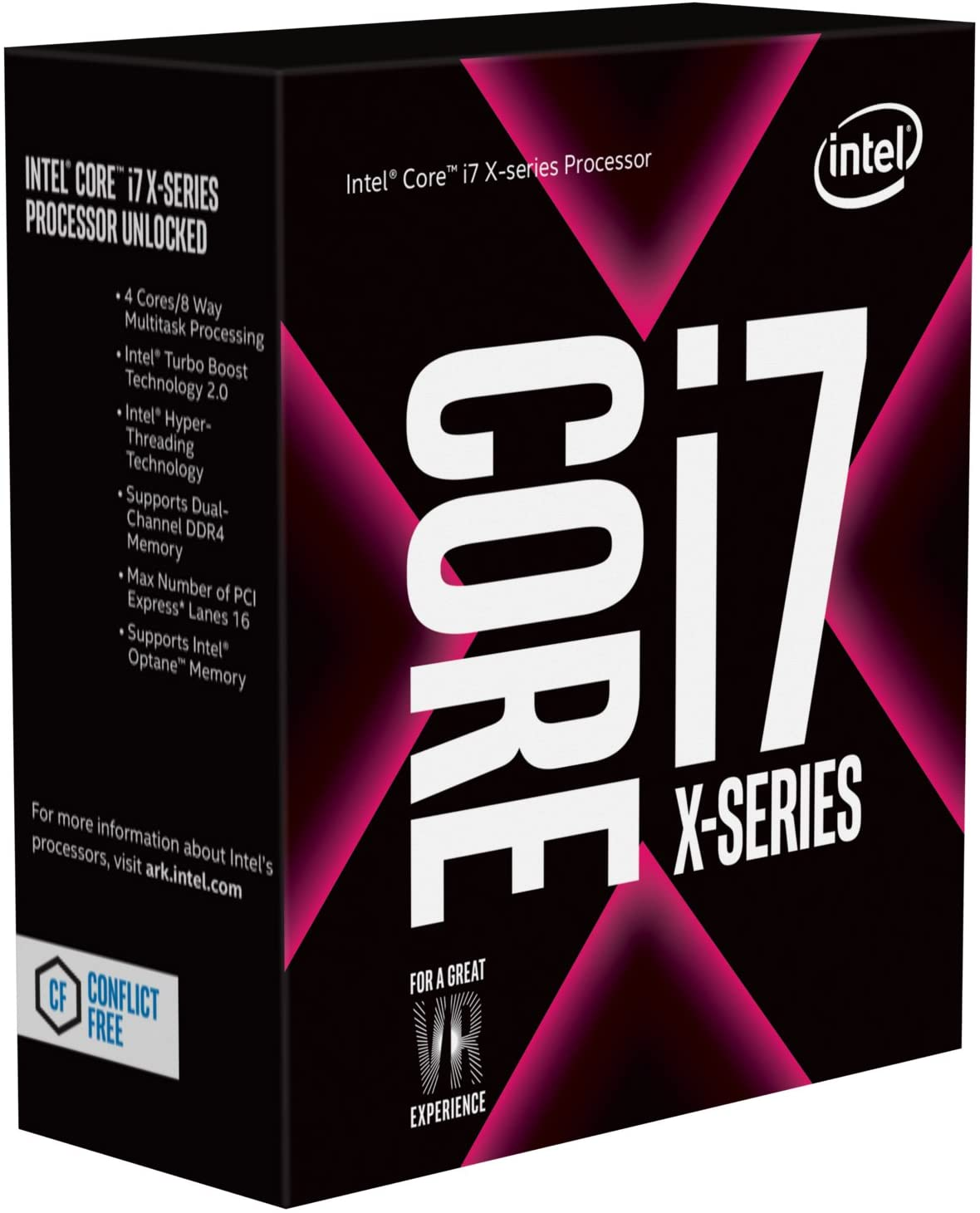 Intel Core i7-7740X X-Series Processor 4 Cores up to 4.50GHz Turbo Unlocked FCLGA2066 X299 Series 112W