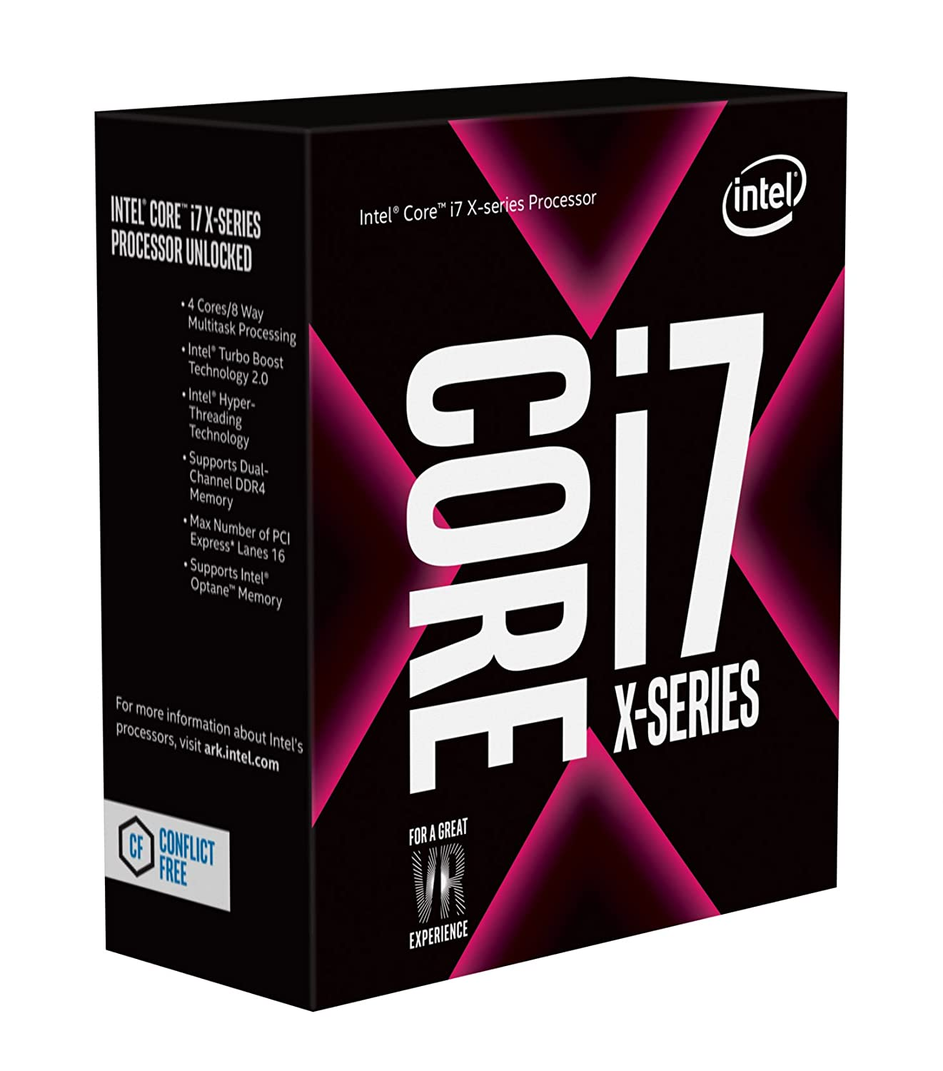Intel Core i7-7740X X-series Kaby Lake Processor 4.3GHz 8.0GT/s 8MB LGA 2066 CPU, Retail