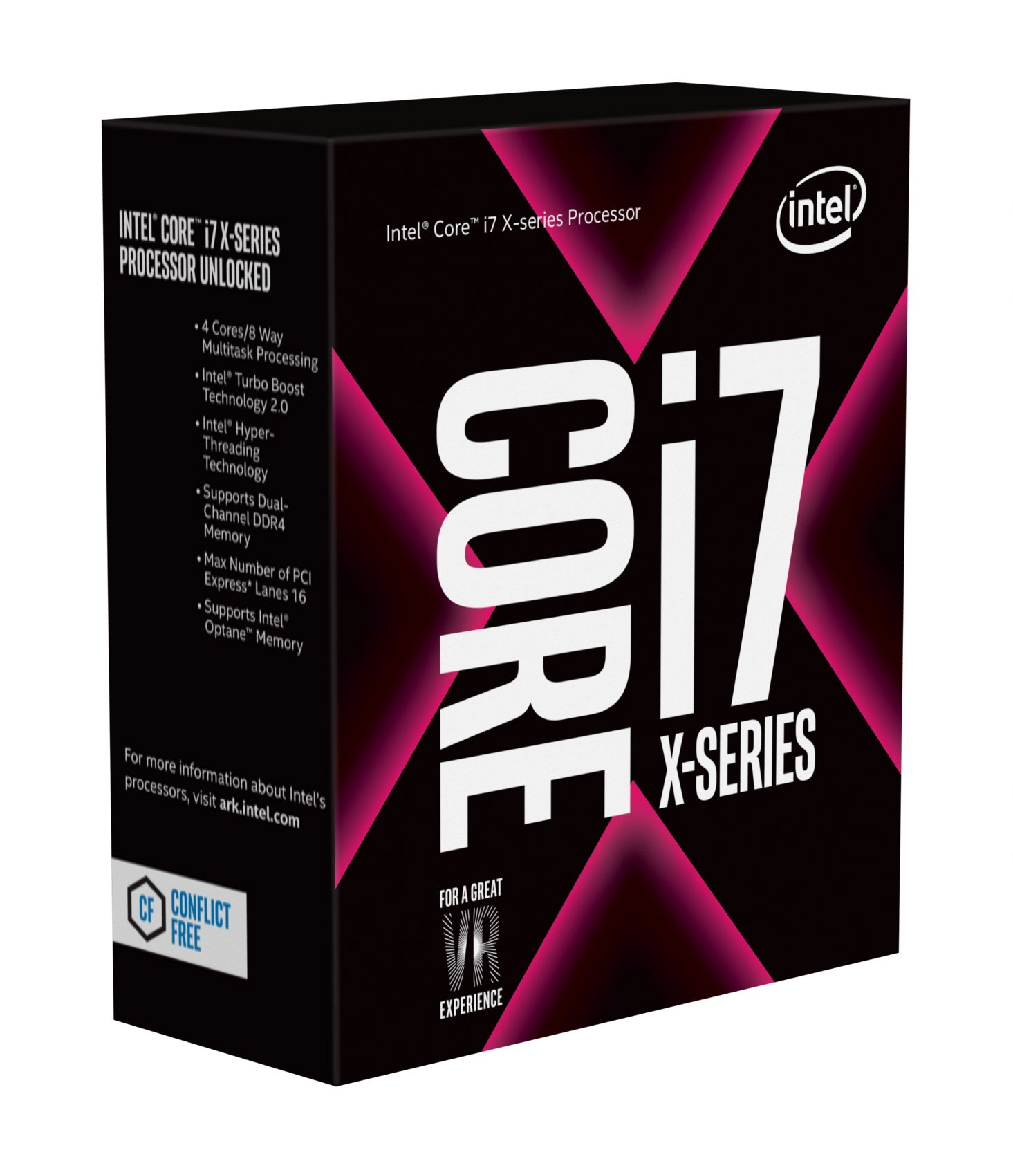 Intel Core I7-7740x X-series 4 Cores Up To 4.50ghz Turbo Unl