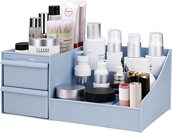 Organizador de Maquillaje con Gavetas, Escritorio Cajón De Tipo Caja de Almacenamiento de Cosméticos para Joyería Accesorios, Vitrina sobre Encimera para Baño Tocadores: Amazon.es: Hogar