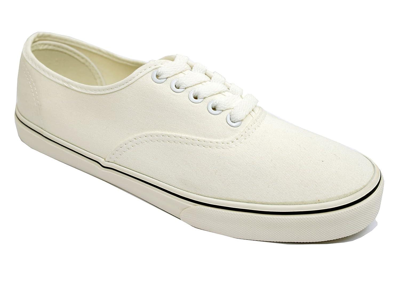 HeelzSoHigh Mens White Lace-Up Canvas Pumps plimsolls Flat Trainer Casual  Shoes Sizes 6-11: Amazon.co.uk: Shoes & Bags