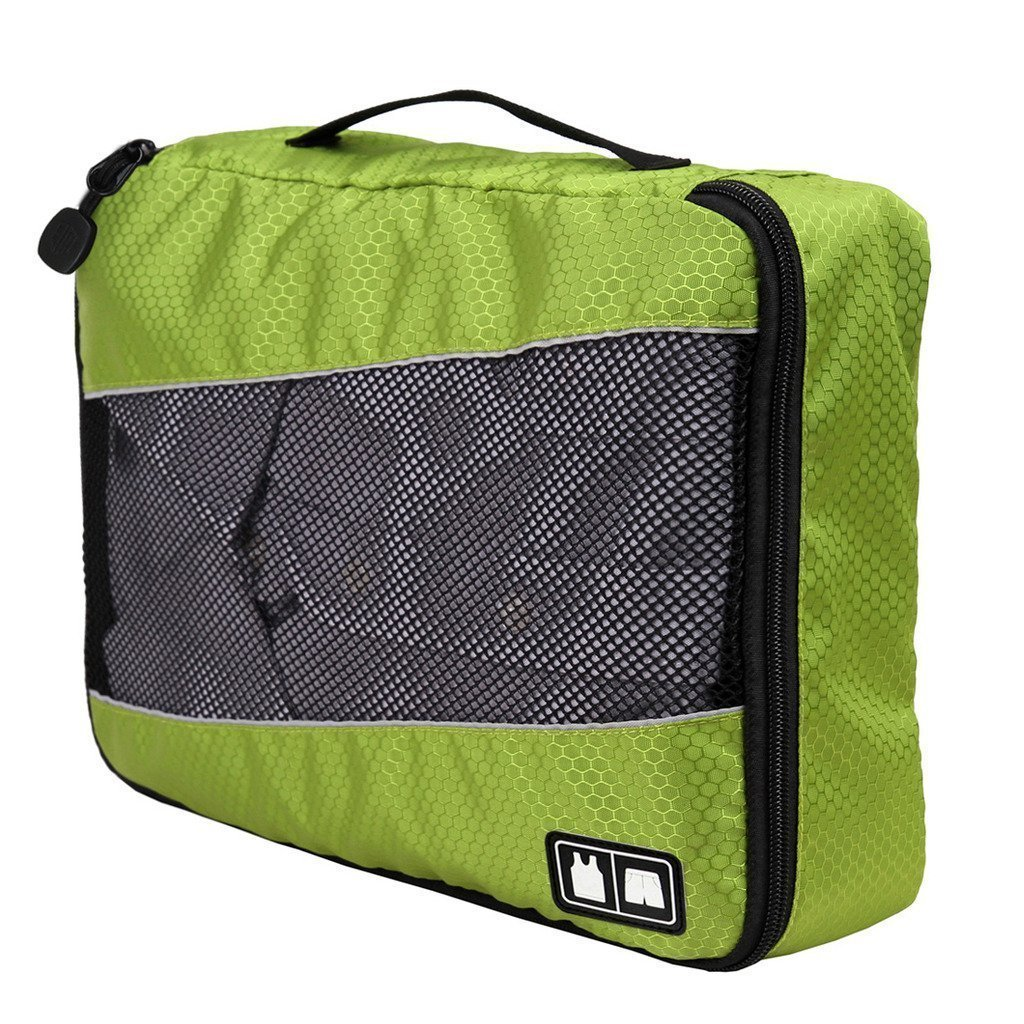 BAIGIO Set di 3 Organizer Valigia Viaggio Organizzatore Valigie Sacchetti per Vestiti Intimo Borse di Stoccaggio Bagaglio Cubi Verde
