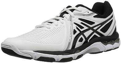 ASICS Men's Gel-Netburner Ballistic Volleyball Shoe, White/Black/Silver, 6.5