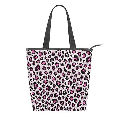 Pink Leopard Print Tote Bag  Handbag  Shoulder Bag  Shopping Bag  Its Bag  Beach Bag