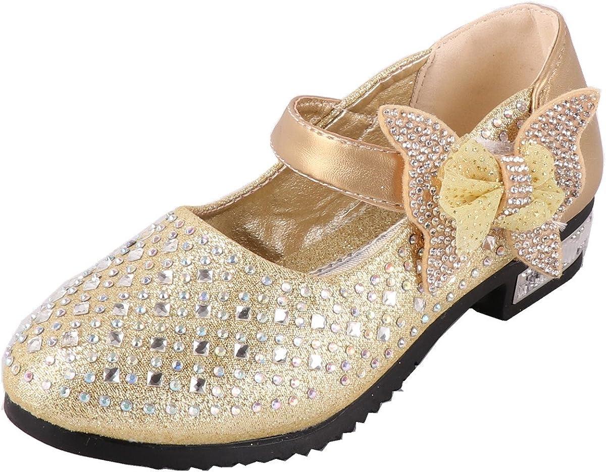 Snyemio Zapato Princesa Niña Infantil de Disfraz Sandalias para Cumpleaños Fiesta Cosplay Carnaval