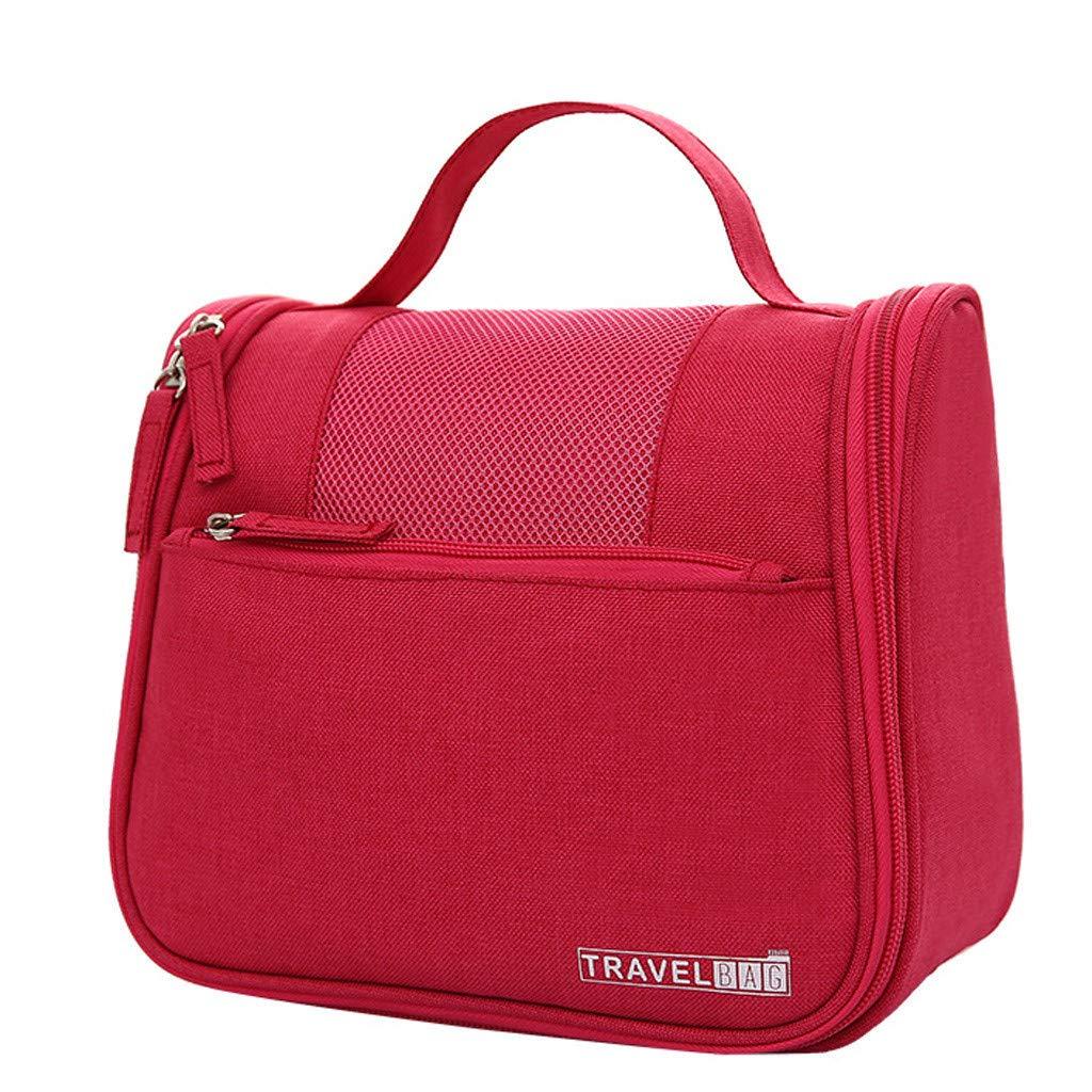 Kiminana Bags,Men's and Women's Solid Color Multi-Function Fashion Leisure Travel Bag Storage Bag wash Bag Hot Pink