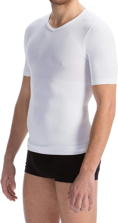 Farmacell Man 419B Maglia Mezza Manica T-Shirt Uomo Modellante Contenitiva con Filato Breeze rinfrescate e Leggero