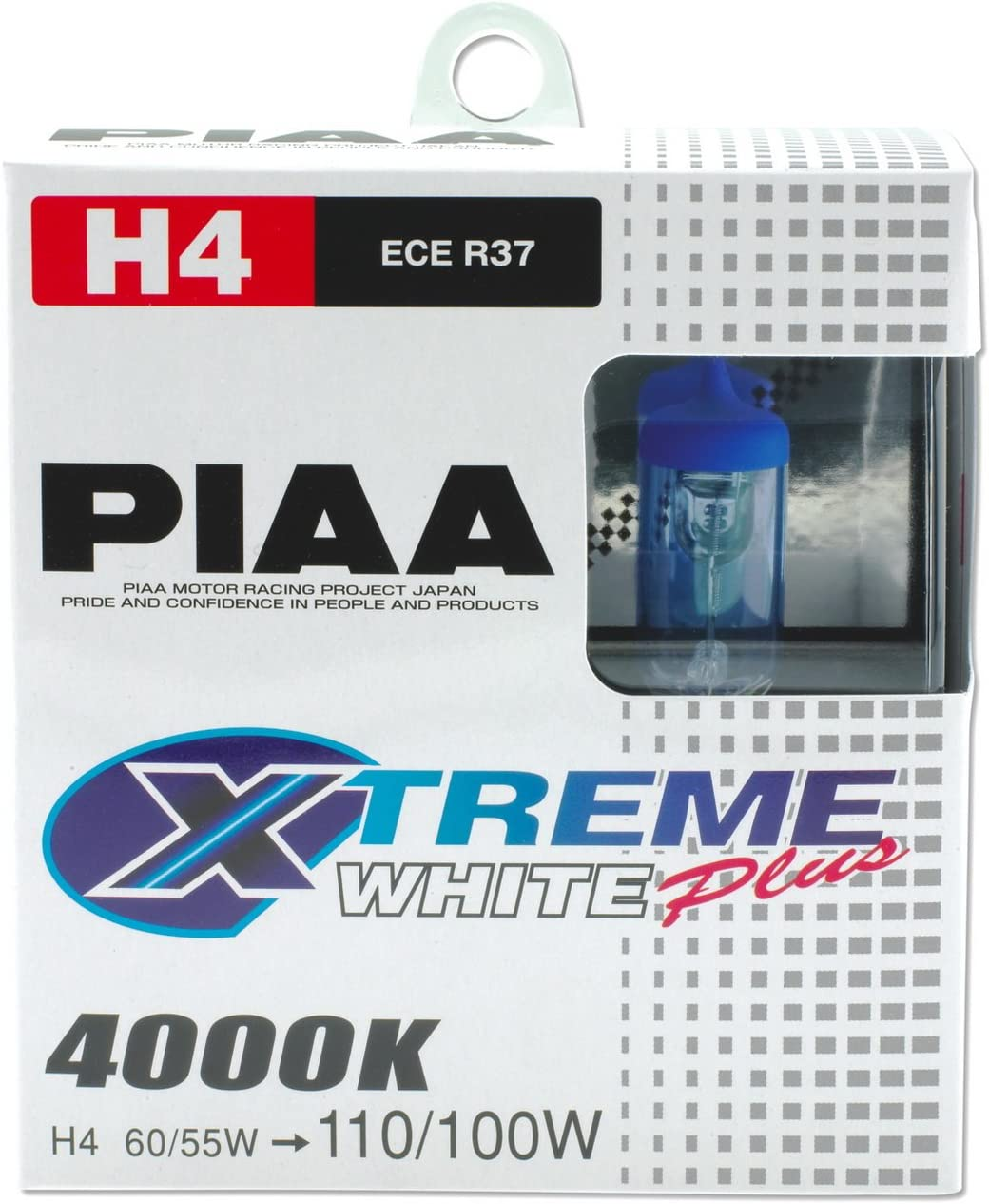 PIAA Xtreme White Plus Anti-Vibration H4-60//55W=110//100W 70856
