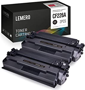 LEMERO 2 Negro Compatible HP 26A CF226A Cartucho de Tóner para HP Laserjet Pro M402n M402dn M402dw HP Laserjet Pro MFP M426fdw MFP M426fdn