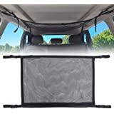 Car Ceiling Storage Net, Universal Car Roof Interior Cargo Net Bag with Zipper, Car Trunk Storage Organizer Sundries…