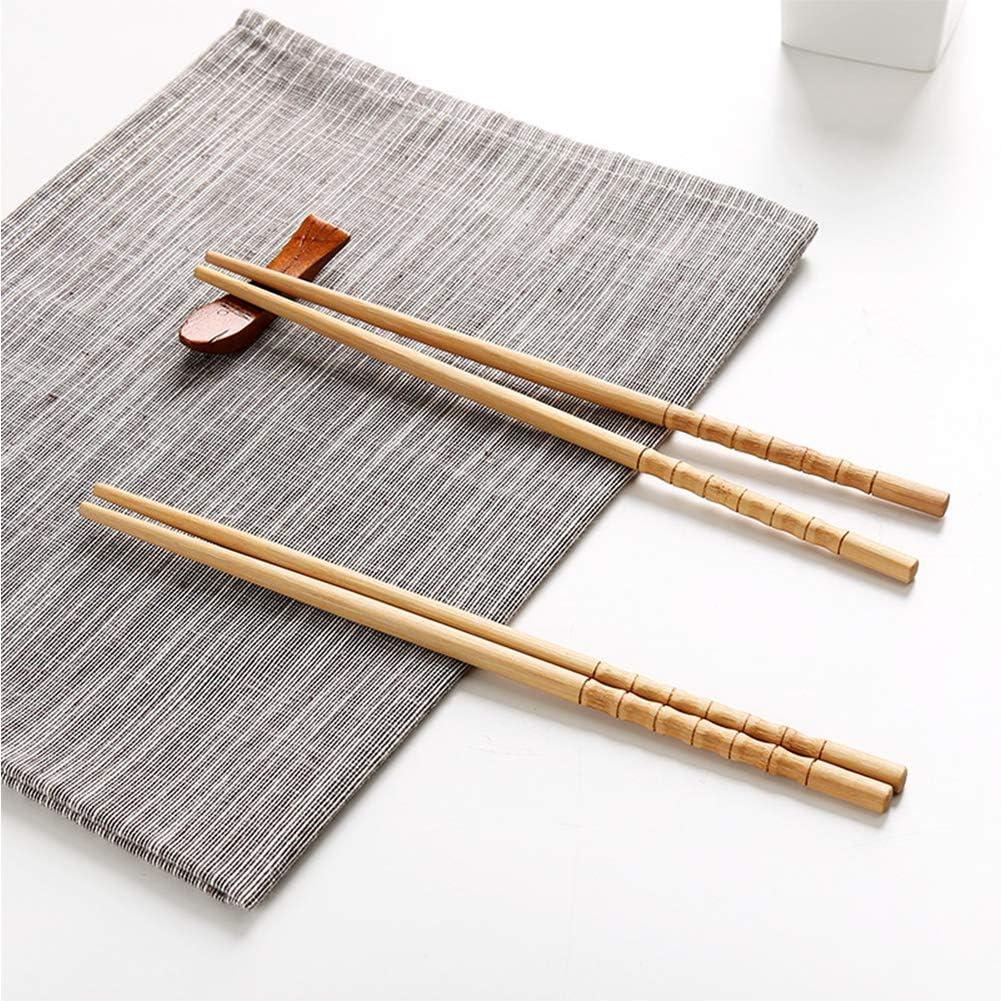 Travel Chopsticks with Case Reusable Chinese Korean Japanese Bamboo Portable Chopsticks Utensil Dishwasher Safe 10-Pairs Reusable Wooden Chopsticks Set