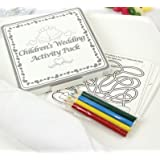 x8 - WEDDING TABLE FAVOURS GIFT - COLOURING FUN ACTIVITY PACK / GAME PUZZLE BOOK by Henbrandt