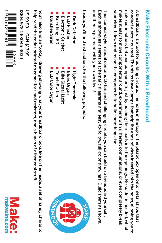 How To Use A Breadboard Make Handbook Sean Circuit Diagram Michael Ragan Jody Culkin 9781680454031 Books