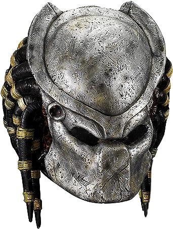 AvP Alien Vs. Predator Deluxe Predator Máscara de Disfraz: Amazon ...