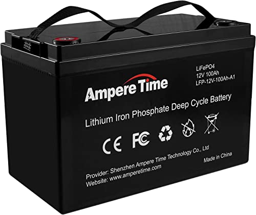 LiFePO4 Deep Cycle Battery 12V 100Ah with Built-in BMS, Perfect for Replace Most of Backup Power and Off Grid Applications