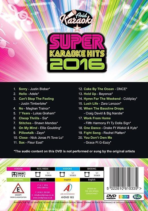 Super Karaoke Hits 2016: Amazon ca: DVD