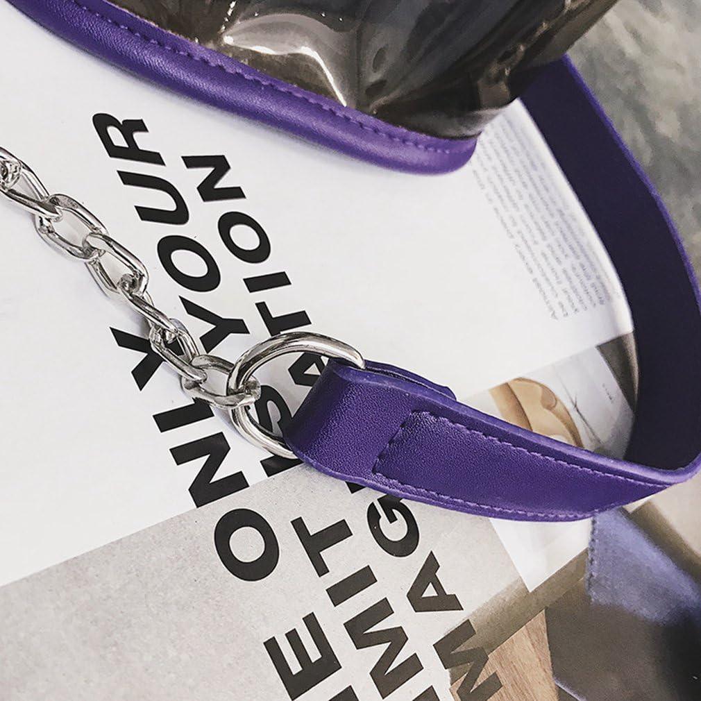 Handbags for Women,Transparent Crossbody Shoulder Bag 2 Pcs//Set Clutch Tote Bag
