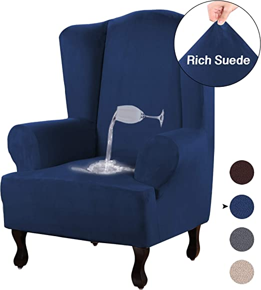 Amazon Com Turquoize Stretch Wing Chair Slipcover Wingback
