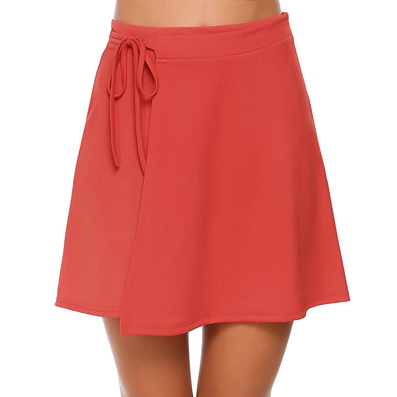 Zeagoo Women Yoga Running Swim Workout Skirt UV Protection Sport Skirt with Athletic Waistband