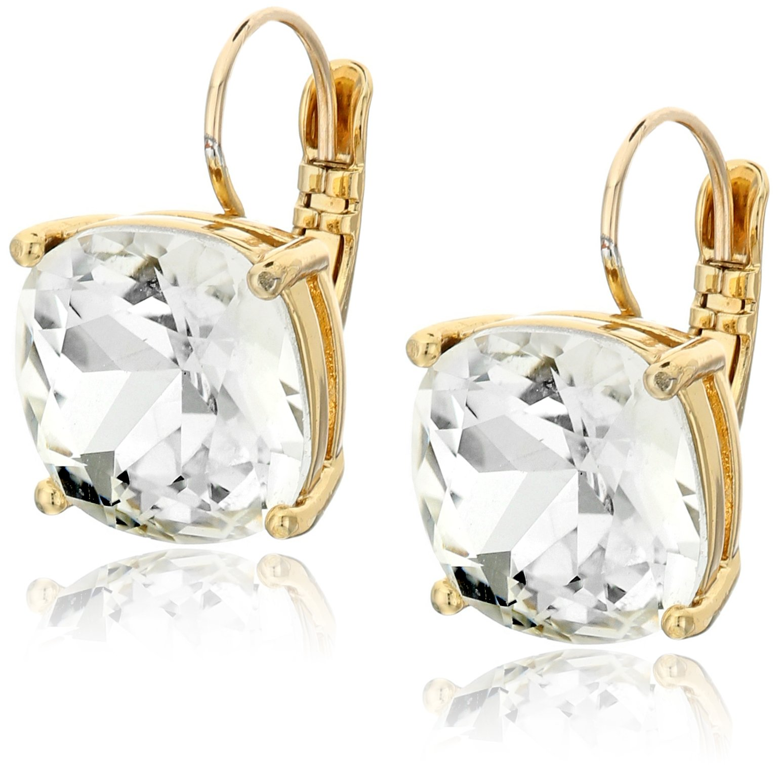 kate spade new york Kate Spade Earrings Small Square Clear Leverback Earrings