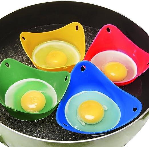 Moldes de silicona para escalfar huevos, utensilios de