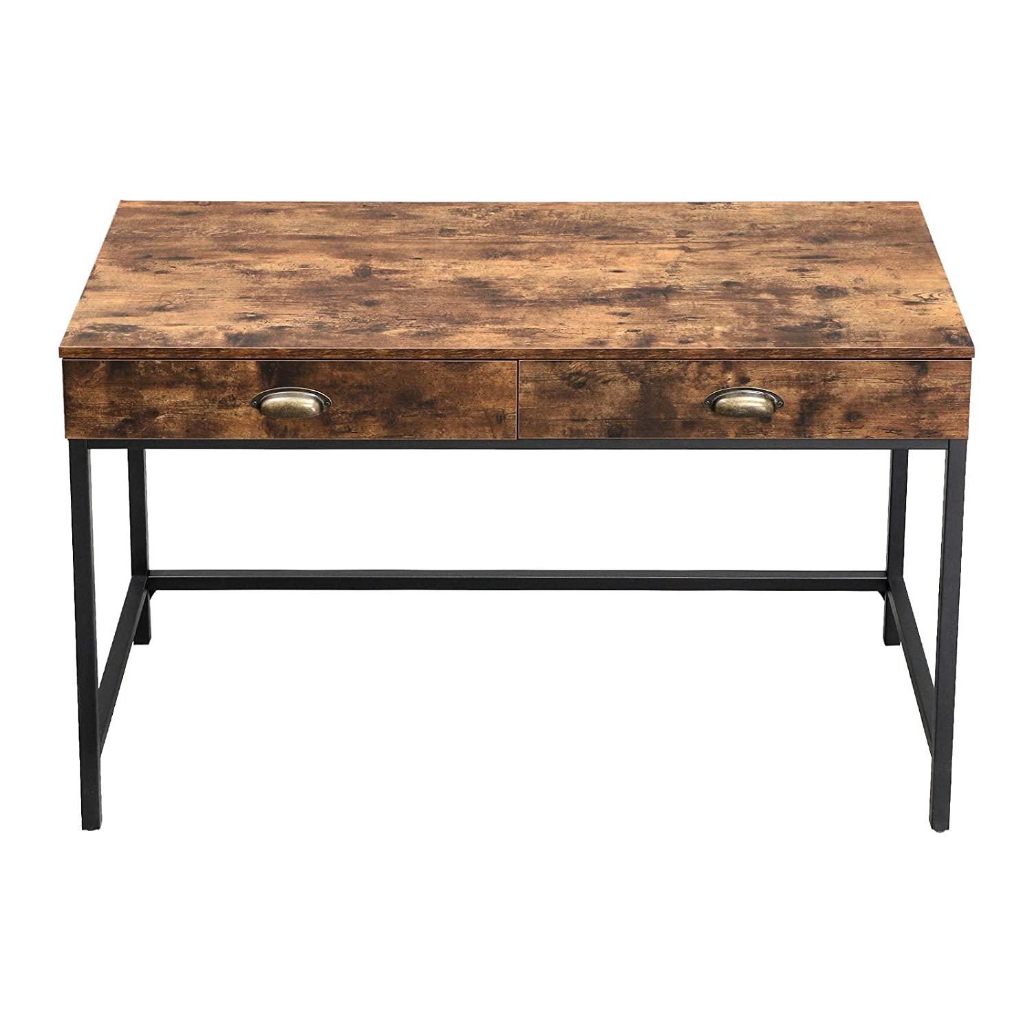 Genial Amazon.com: VASAGLE Industrial Computer Writing Desk With Drawers, Space  Saving Study Desk With Storage, For Home Office, Easy Assembly, Rustic  Brown ...
