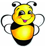 Eureka 5-Inch Paper Cut-Outs, Bee, Package of 36 (841207)