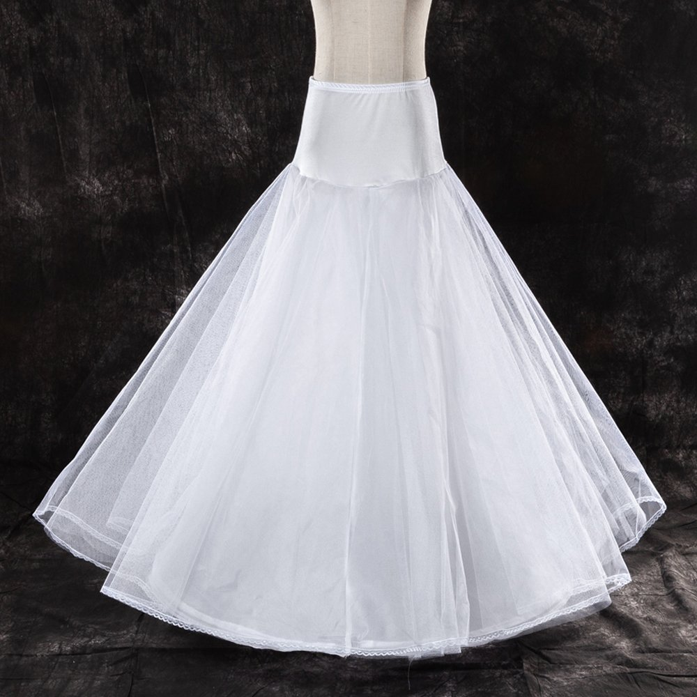Free Shipping 2 Hoops Wedding Petticoat With Lace Edge High Quality By Scientific Process Wedding Accessories