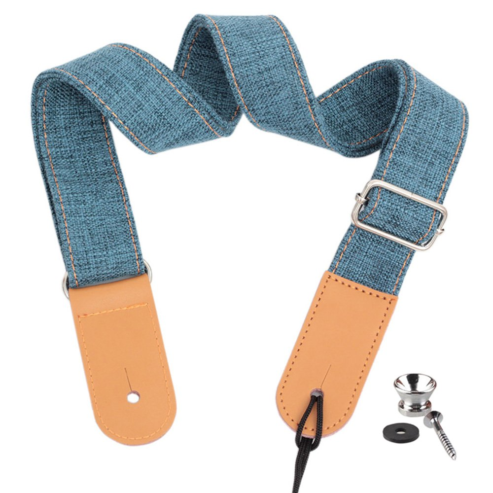 Ukulele Strap - Cotton Shoulder Strap for Uke Soprano Concert Tenor Baritone Linen Material with Metal Buckle Deedose LT-Ustrap-21