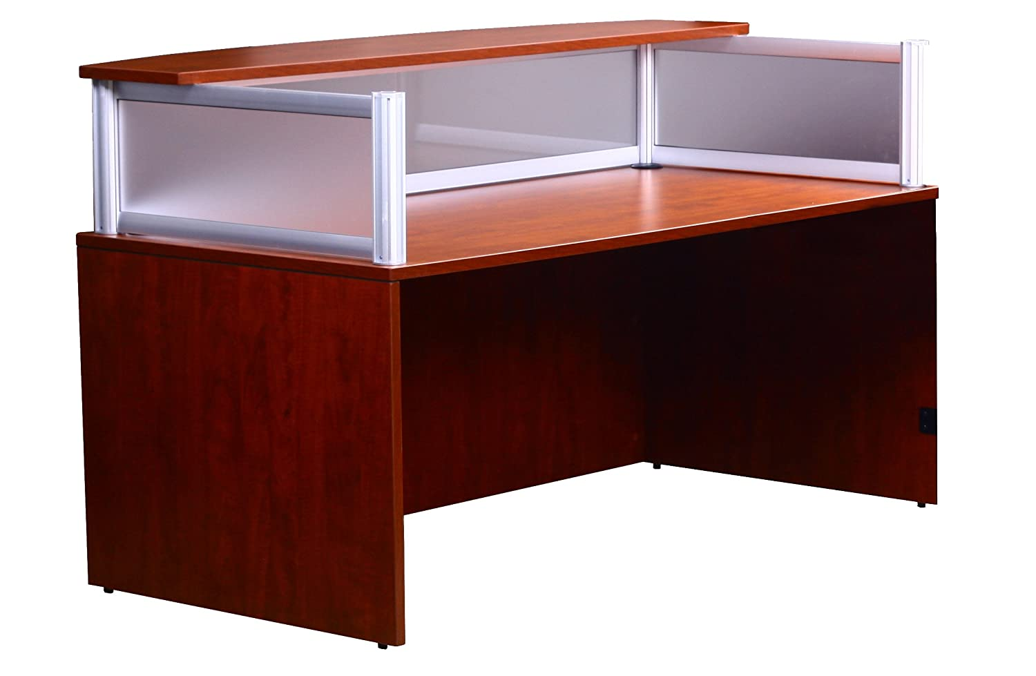 Amazon.com: Boss Plexiglass Reception Desk, Cherry: Kitchen & Dining