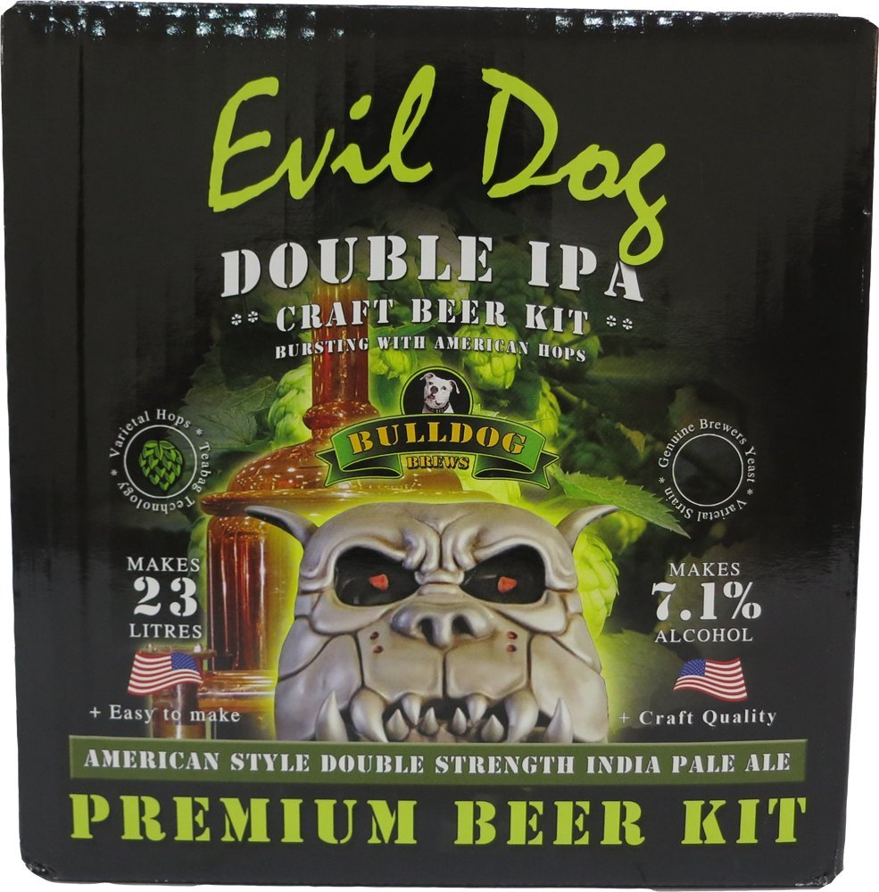 Bulldog- Evil Dog Double IPA HomeBrew Beer Kit Hambleton Bard