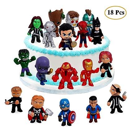 18 decoraciones para tartas de Los Vengadores y Superhéroes ...
