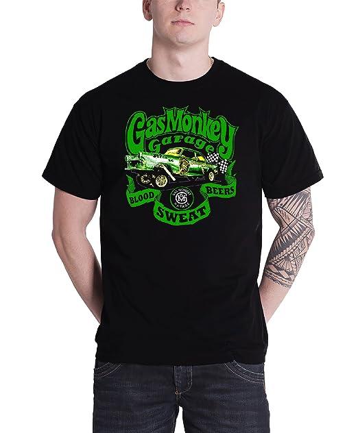 2102b17b7 Gas Monkey Garage T Shirt Gasser Kustom Builds Official Mens Black:  Amazon.co.uk: Clothing