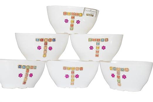 Holy Krishnas Beautiful Decorative Pots for Flowers & Plants (Set Of 6) + LAXMI ATM Card