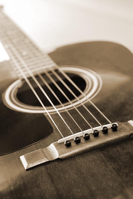 Bilderdepot24 Autoadhesivo Fotomural Guitarra - Sepia 150x230 cm ...