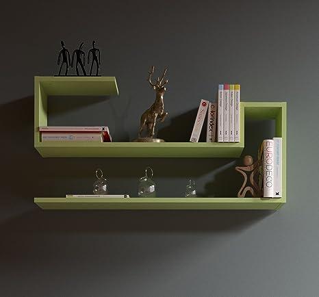 AIRY Mensola da muro - Verde - Mensola Parete - Mensola Libreria ...