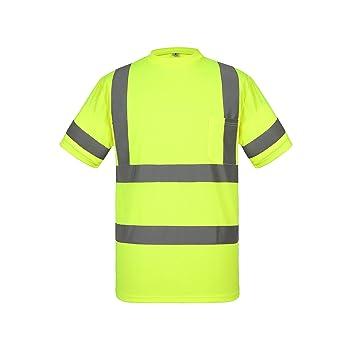 UNINOVA Camisa de Seguridad de Alta Visibilidad – Polo Reflectante ...