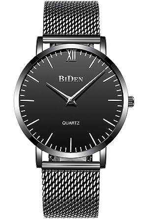 Herren Einfacher Designer Uhren Schwarz Männer Mesh Strap Luxus ...