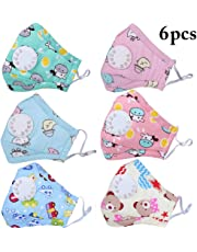 Fascigirl 6PCS Kid Mouth Mask Cartoon Dust Mask Pm2.5 Protective Mouth Cover Face Mouth Mask for Outdoor