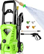 Homdox 2500 PSI,1.5GPM Pressure Washer Electric Power Washer with 4 Nozzles,Longer