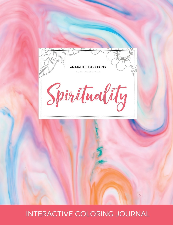 Adult Coloring Journal: Spirituality (Animal Illustrations, Bubblegum) PDF ePub fb2 ebook
