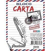 Bloco P/carta Sdom 50f Pautado 205x265 São Domingos, Estampado