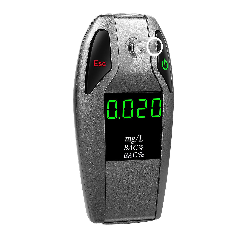JASTEK Breathalyzer, [2019 New Version] Fuel Cell Sensor Digital Breath Alcohol Tester and Professional Grade Blood Alcohol Content Detector Made of Zinc Alloy by JASTEK