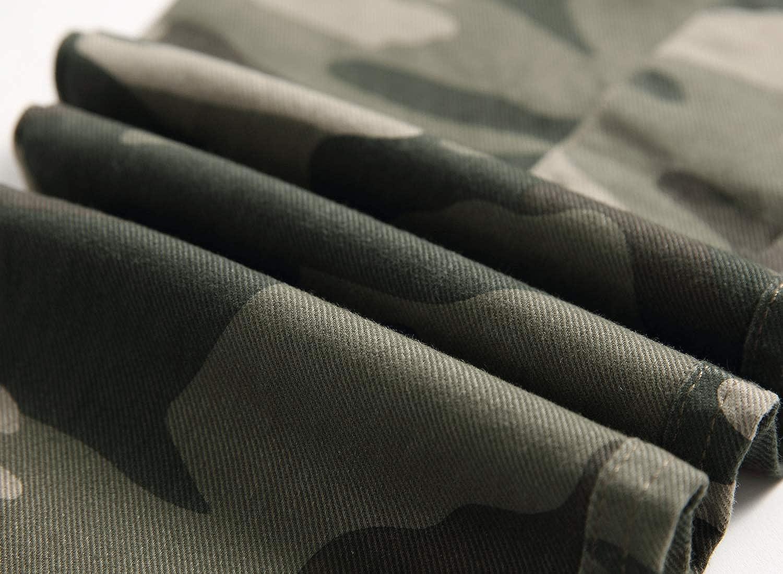 LAUSONS Kinder Camouflage Hose Jungen Casual Cargo Tarnhose