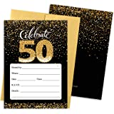 amazon com 50th birthday invitations with envelopes 30 count 50