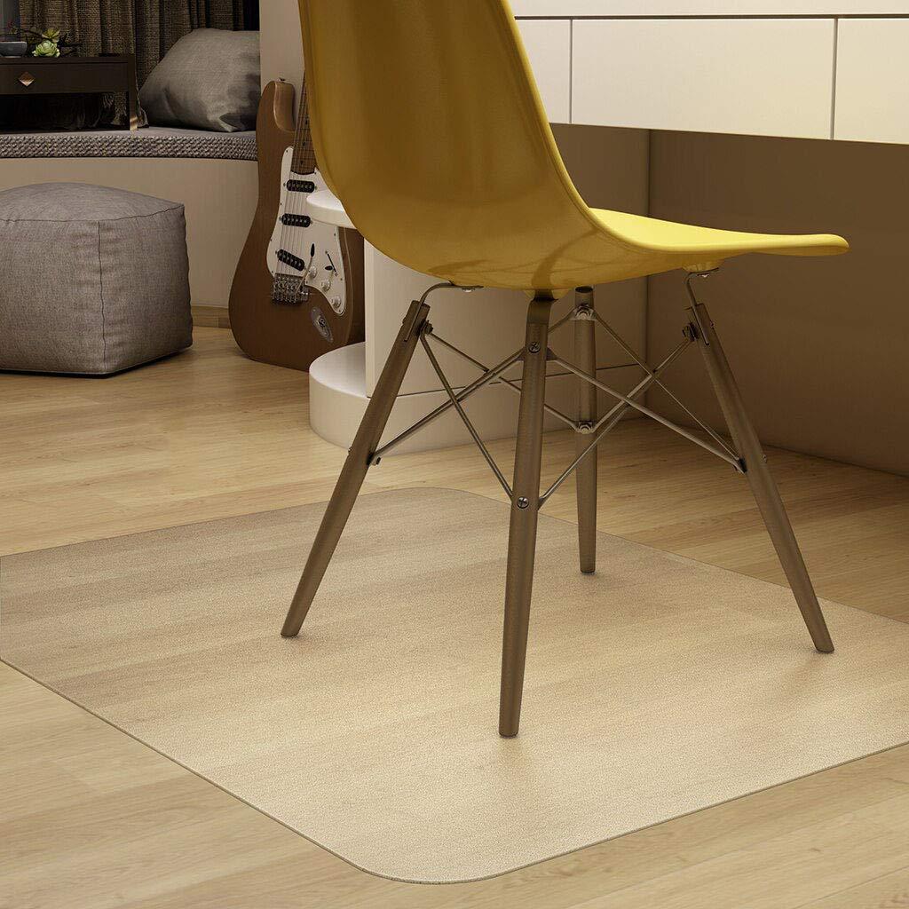 -chrysanthemum1.5mm HUANXA PVC Rug 16x24inch Chair Mat Hardwood Floor Clear Scratch Resistant Floor Protector for Low Pile Carpet Computer Office Chair Floor Mat-40x60cm