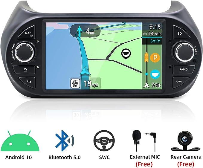 Android 8.1 estéreo para Fiat Fiorino, con Sistema de navegación GPS ,Radio de vehículo con Pantalla capacitiva de 7 Pulgadas, Autoradio con cámara de Seguridad: Amazon.es: Coche y moto